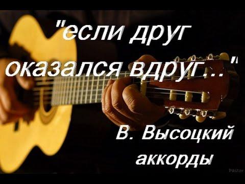 песня о друге, Владимир Высоцкий, если друг оказался вдруг, кавер гитара,
