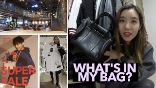 Meeting at CJ E&M, Hapjeong Shopping, & Updated What's in My Bag