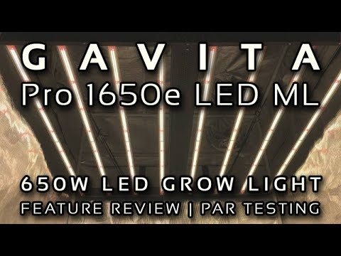 Gavita Pro 1650e LED ML Grow Light Review and PAR Testing