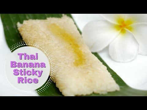 Classic Thai Desert Banana in Sticky Rice Recipe