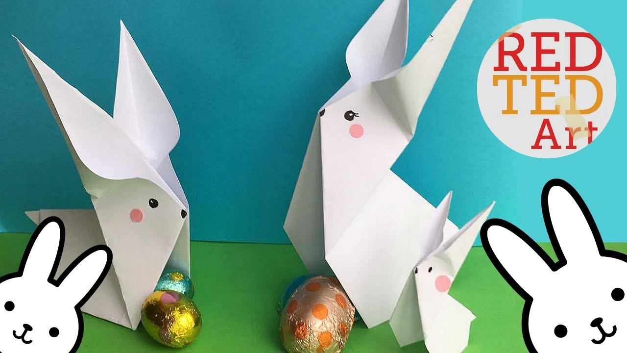 easy origami bunny 2 cute amp easy easter diys paper