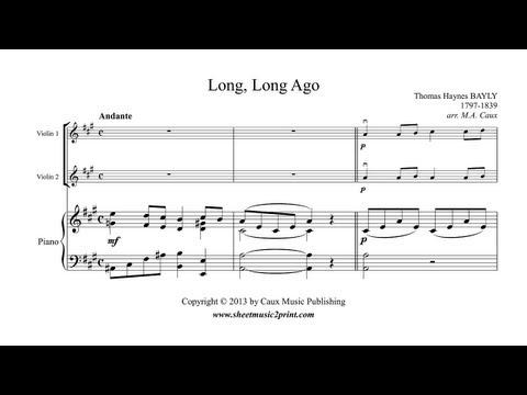 Long, Long Ago - Violin Duet Sheet Music
