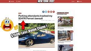 Ferrari Owner Files Monster Lawsuit After Nyc Parking Garage Damages His 458