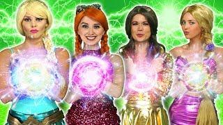 Download lagu DISNEY PRINCESS MAGIC SUPERPOWERS. (Rapunzel, Elsa, Belle, Tiana, Anna vs Maleficent and Gaston)