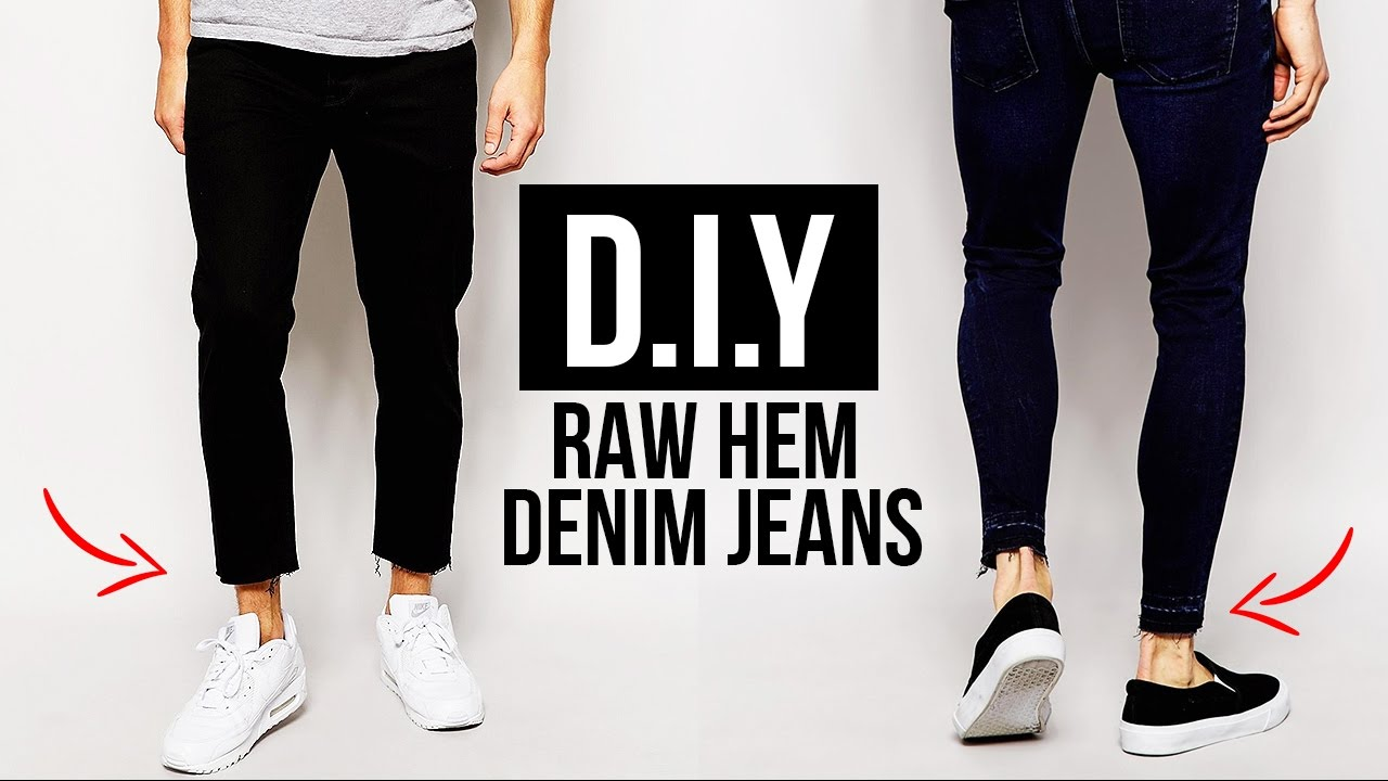 43e0a815 HOW TO: RAW HEM JEANS (CROPPED CUT JEANS) DIY TUTORIAL | JAIRWOO ...