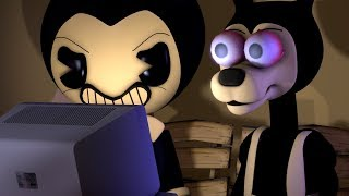 Bendy And Boris And Neighbor REACT TO Bumper Car Madness Bendy And The Ink Machine SFM Animation