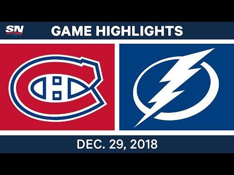 NHL Highlights | Canadiens vs. Lightning - Dec 29, 2018