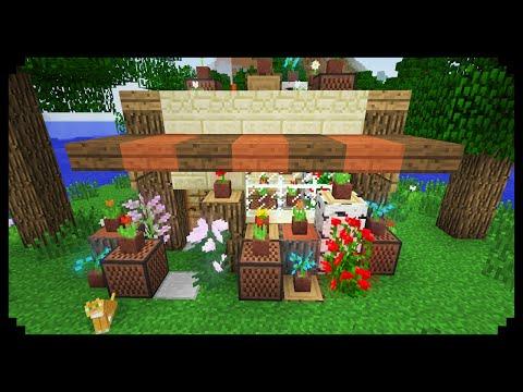 ✔ Minecraft: How to make a Flower Shop