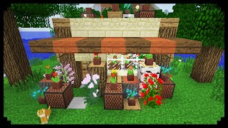 ✔ Minecraft: How to make a Flower Shop