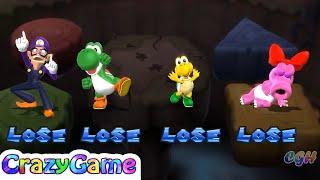 Mario Party 9 Boss Rush - Waluigi v Birdo v Yoshi v Koopa Player Master Difficult |CRAZYGAMINGHUB