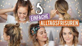 5 SCHNELLE ALLTAGSFRISUREN für kürzere Haare - Long Bob | SNUKIEFUL