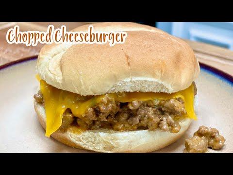 CHOPPED CHEESEBURGER / Best Burger Recipe, Hamburger recipe, Ground Beef Recipes, Whats for dinner