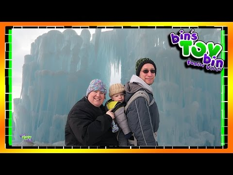 Real Life Elsa Ice Palace in Lincoln, NH!! 1.31.2016 | BinsToyBin Daily Vlogs