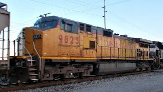 30 Subscriber Special!!! A southbound grain train heads out of Ossian
