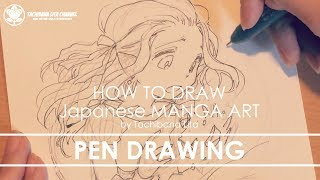 ✔ Pen drawing *Main line #inktober2017 | How to draw Manga Art 2017.10.12
