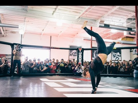 UFC 184: Ronda Rousey Open Workout Highlights