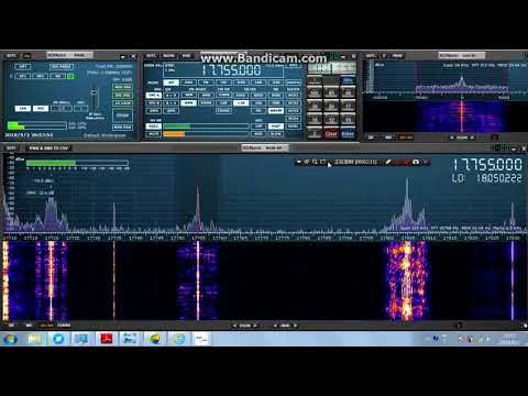 Romania Radio Chinese 17755kHz comparison with 15160kHz