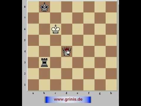 Шахматное окончание ферзь против ладьи 1