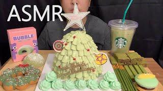 ASMR 그린 티 디저트, 샤이닝트리, 마카롱, 케이크…