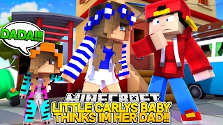 Minecraft Adventure - LITTLE CARLYS BABY THINKS ROPO IS HER DAD!!