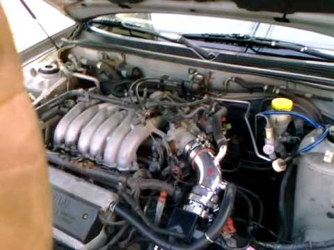 99 Nissan Maxima w injen cold air intake  YouTube