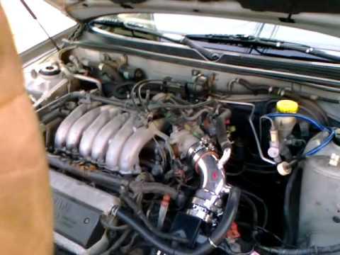 99 Nissan Maxima w injen cold air intake  YouTube
