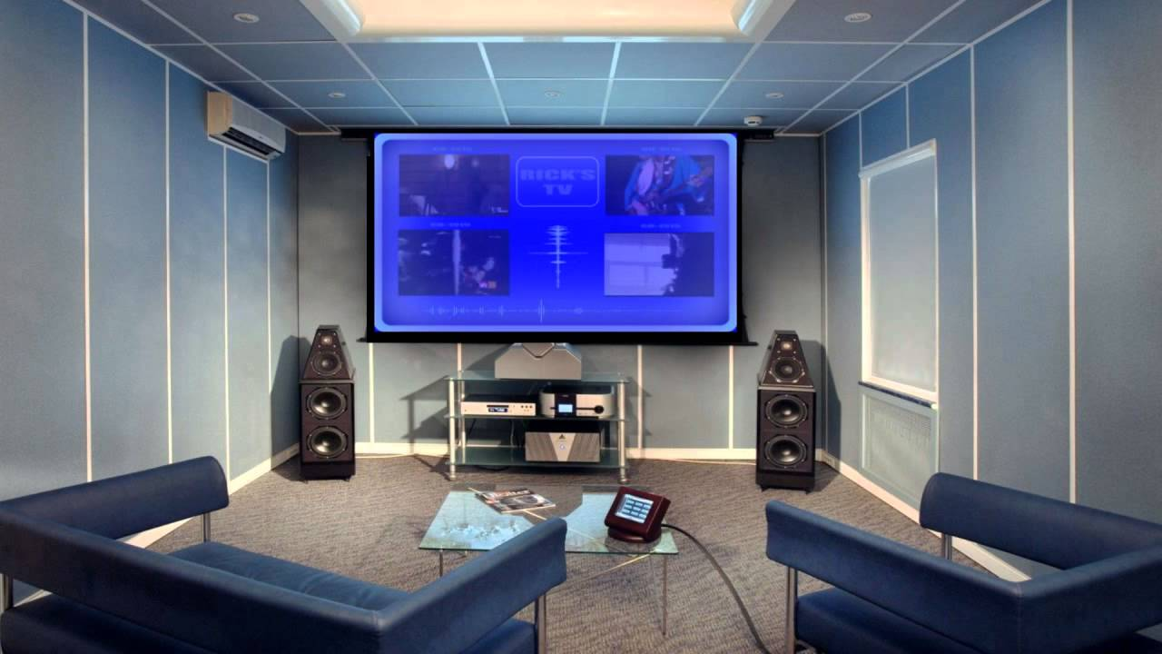 Good Futuristic Home Theater System Design Concept In HD