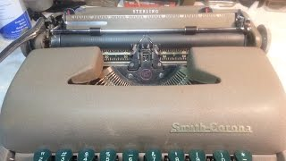Smith Corona Portable Typewriter Space Bar Stuck Sticky Quick Fix Repair Trick Sterling Silent