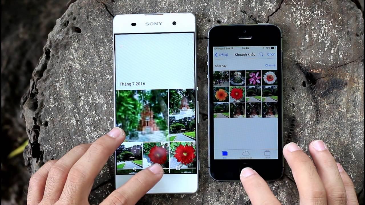 iphone 5s vs sony xperia xa