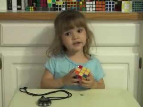 3 year old solves Rubik's Cube: Emily Gittemeier