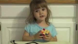 3 year old solves Rubik's Cube, Emily Gittemeier