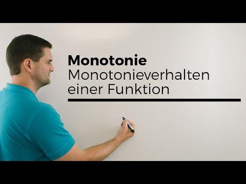 Monotonie, Monotonieverhalten einer Funktion, Steigung untersuchen   Mathe by Daniel Jung from YouTube · Duration:  4 minutes 22 seconds