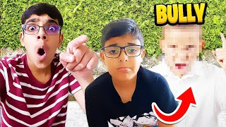 Confronting My LITTLE Brothers BULLY!!