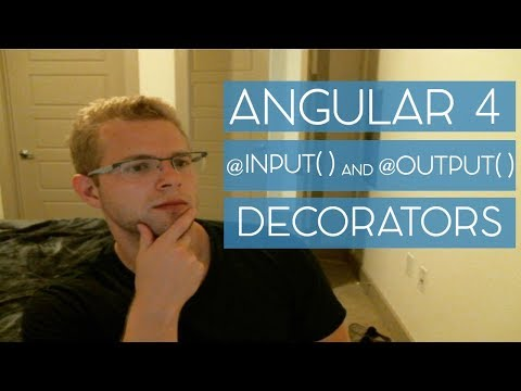 How to use the @Input() and @Output() decorators with Angular