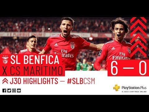 Highlights Sl Benfica 6 0 Cs Marítimo Youtube