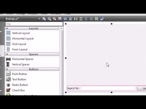 C++ GUI with Qt Tutorial - 10 - Designing the User Interface