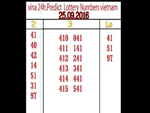 vina 24h Predict Lottery Numbers vietnam 25 09 16 ល្ងាច