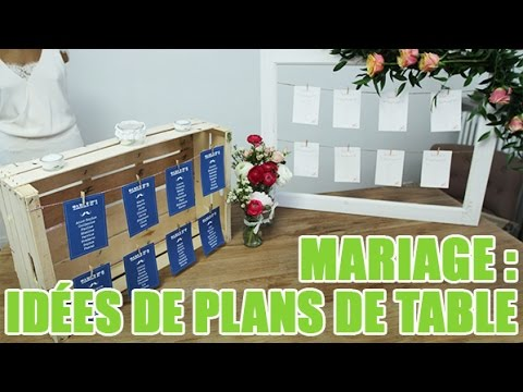 id e de plan de table pour un mariage youtube. Black Bedroom Furniture Sets. Home Design Ideas