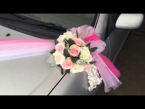 how-to-decorate-a-wedding-car-with-flower-&-sash|-婚礼花车布置-|-wedding-car-decoration-style-b-|-huamama