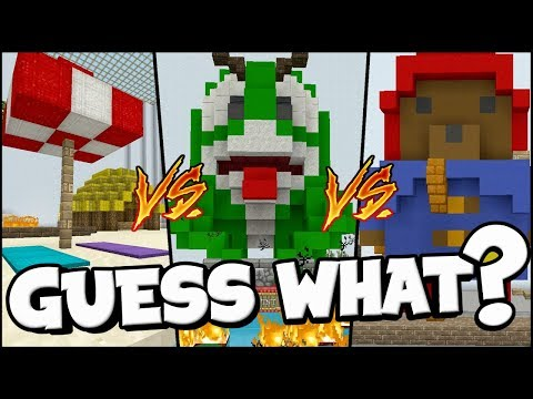 THE GREATEST BUILD BATTLE EVER !! : Guess What Minecraft Xbox