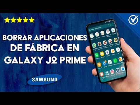Cómo Borrar o Eliminar Aplicaciones de Fábrica en el Samsung J2 Prime