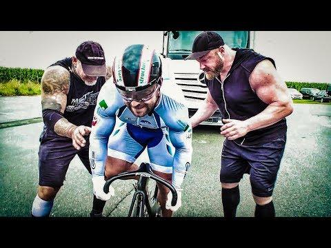 LKW ziehen! Bodybuilder VS Strongman VS Radprofi