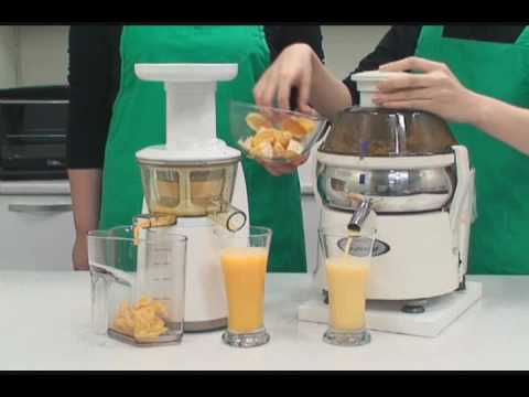 Hurom Slow Juicer vs Standard Juicer - YouTube