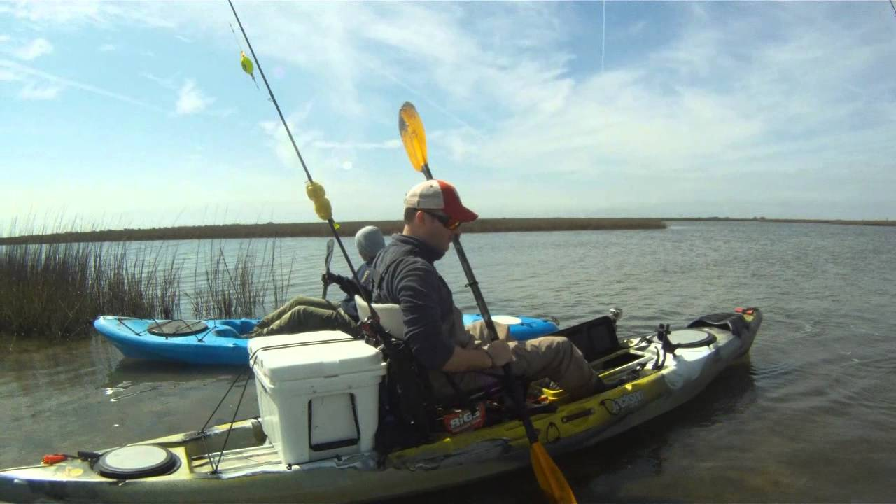 kayaking galveston kayak fishing youtube