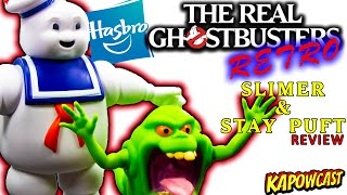 REAL GHOSTBUSTERS RETRO SLIMER AND STAY PUFT MARSHMELLOW MAN REVIEW