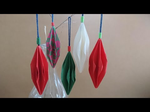 Origami Pendant/Ornaments for Christmas 折纸圣诞小挂饰 (V2)