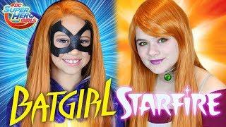 Batgirl & Starfire DC Superhero Girls Makeup Tutorial! With Daya Daily!