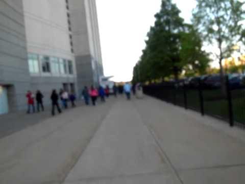 Outside the United Center Chicago Bulls