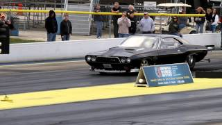 BRIAN HICK'S~ 526 C.I. TWIN TURBO HEMI~ '74 CHALLENGER at BYRON 11/10/12