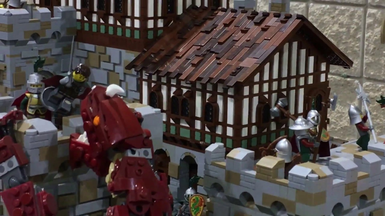 lego clarendon castle moc - brickfair al, 2017 - youtube